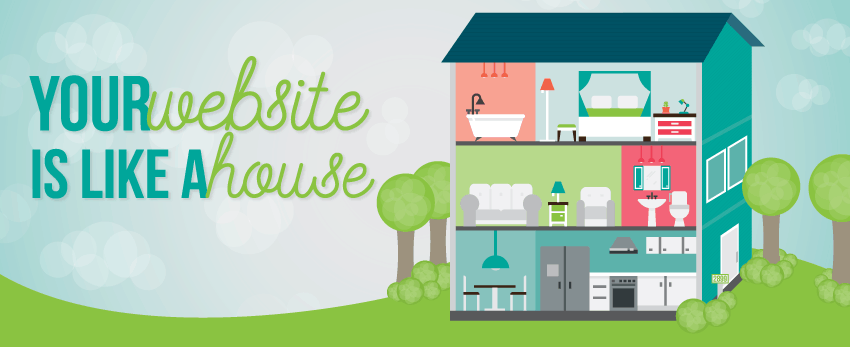7 ways your website is like a house - Caffeinated Communications Studio
