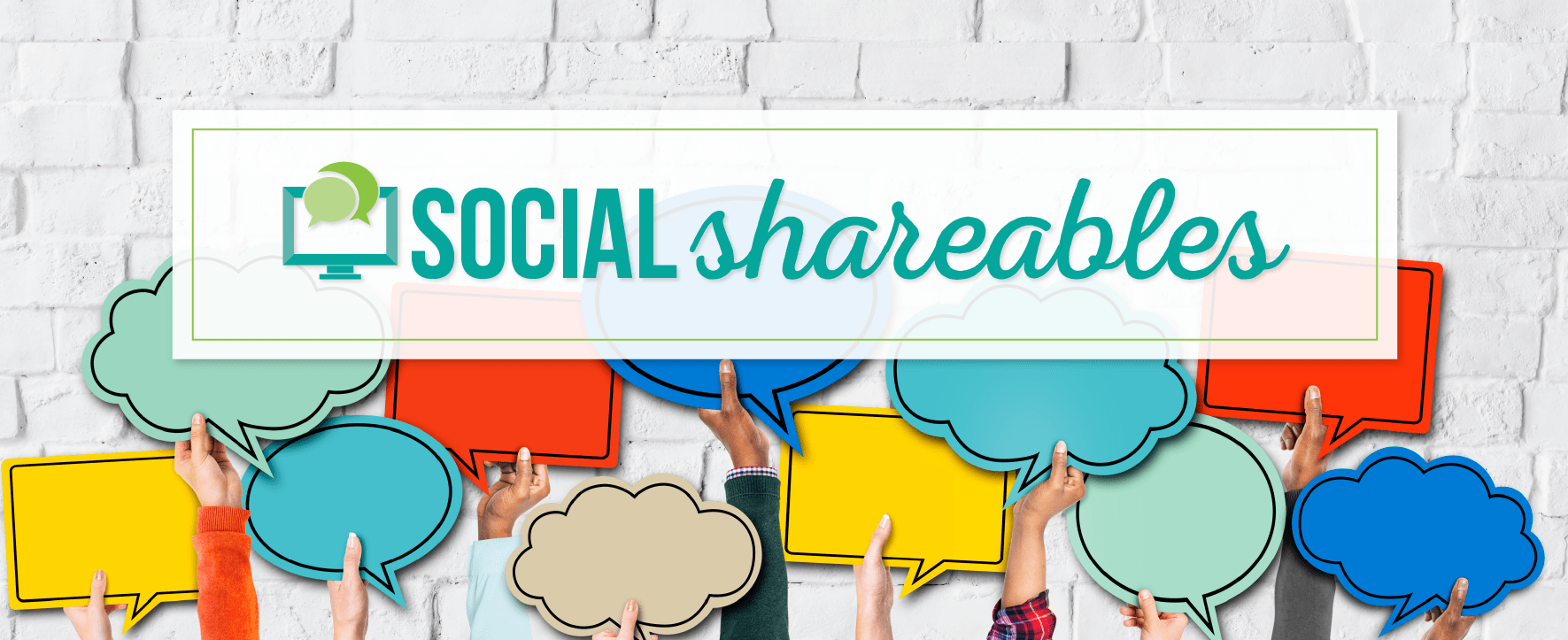 Social Shareables by Caffeinated Communications Studio