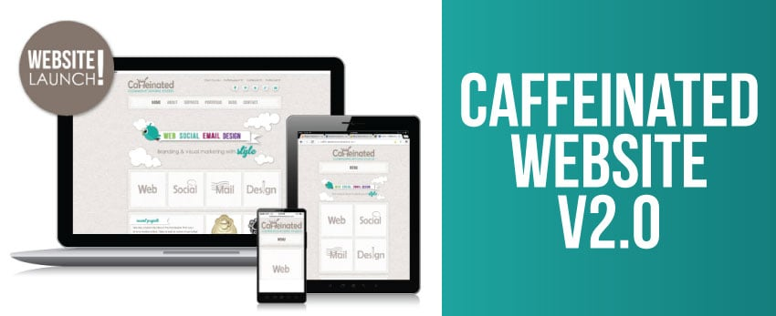 New website for Caffeinated Design Studio 2013